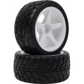 Neumáticos con llanta 1/10 Rally delanteros