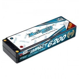 IMPACT Max-Punch FD2 Li-Po Battery 6200mAh/7.4V 110C Flat Hard Case