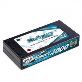 IMPACT FD2 Li-Po Battery 4000mAh/7.4V 110C Hard Case (1:12 Racing size)