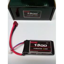 MAXPRO Li-Po 30C 7,4V 1300mAh 2S (70x35x16,5mm.) 82gr.