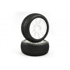 FASTRAX 1/8TH PREMOUNTED BUGGY TYRES 'CUBE/10 SPOKE'