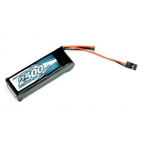 IMPACT Li-Po Battery 2500mAh/7.4V 4C Flat Size for  Tx & Rx