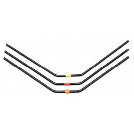 RC8B3 FT Rear Anti-roll Bars, 2.8-3.0mm