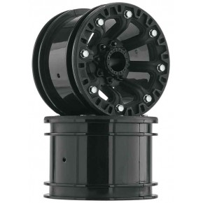 "2.2"" 8-Spoke Wheel Black..."