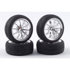 FASTRAX 1/10 STREET/DRIFT 10SP SCALE WHEEL & V2 TYRE