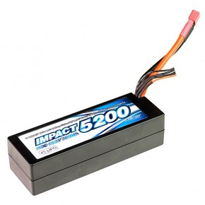 IMPACT Linear LCG FD2 Li-Po Battery 5200mAh/14.8V 110C 36mm Height Wire Hard Case