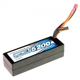 IMPACT Linear LCG FD2 Li-Po Battery 5200mAh/14.8V 110C 36mm Height Wire Hard Case