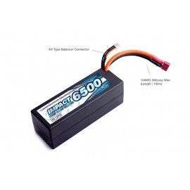 IMPACT Linear FD2 Li-Po Battery 6500mAh/14.8V 100C Height Wire Hard Case