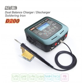 SkyRC Charger D200 AC/DC DUO LiPo 1-6s 200W incl. Soldering