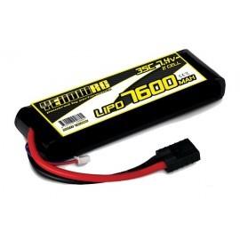 Yellow RC LiPo 4000mAh 7.4V 2S35C SOFT CASE TRAXXAS CONNECTOR