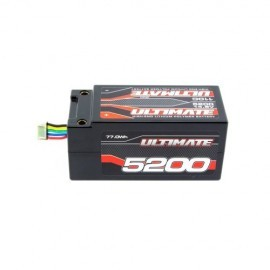 BATERIA ULTIMATE LIPO SHORTY 14.8v. 5200 mAh 110C CONEXIÓN 5mm