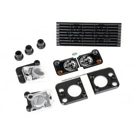 Grill, Land Rover Defender grill mount (3) headlight housing (2)lens (2) headlight mount (2) (fits TRX8011 body)