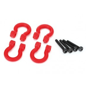 Bumper D-rings, red (front...