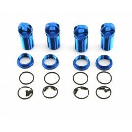 Losi Shock Body & Adjuster Set, Aluminum (4) (Blue) (MLST/2)