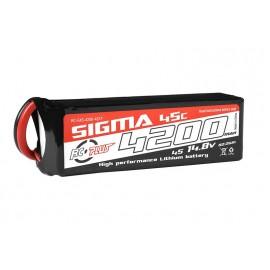 Li-Po Batterypack Sigma 45C 4200 mAh 4S1P 14.8V XT-60