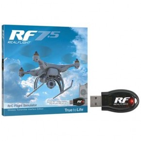 RealFlight Flight Simulator RF 7.5 with Wireless SLT Interface