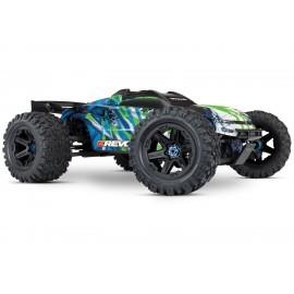 E-REVO 1/10 BRUSHLESS 4WD Racing Monster Truck TQI 2,4GHZ + docking base, Telemetry and Li-Po batteries