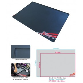 Black Suit Pit Mat?Black M Size (Artificial Leather)