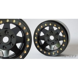 "1.9"" Steel 8 Spoke Beadlock Wheels Black"