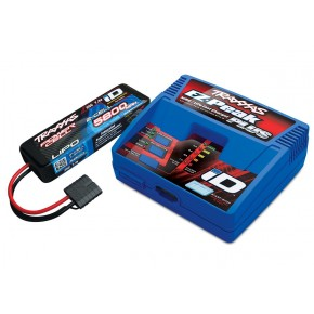 Battery and charger completer pack (includes TRX2970 iD charger (1), TRX2843X 5800mAh 7.4V 2-cell 25C LiPo battery (1)