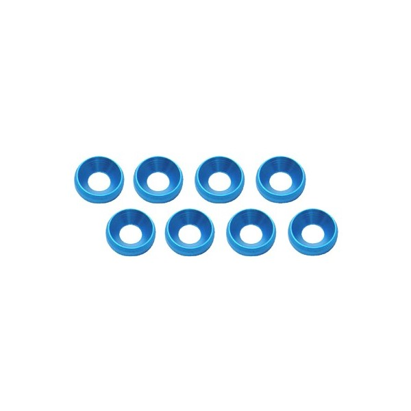 M3 Flat Head Screw Aluminum Washer Blue (8pcs)