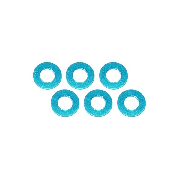 Color Aluminum  Adjust Spacer 3.0x0.5mm Blue (10pcs)