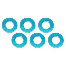 Color Aluminum  Adjust Spacer 3.0x0.5mm Blue (6pcs)