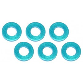 Color Aluminum  Adjust Spacer 3.0x1.0mm Blue (10pcs)