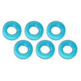 Color Aluminum  Adjust Spacer 3.0x1.5mm Blue (6pcs)