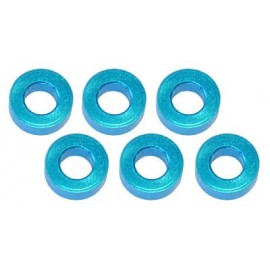 Color Aluminum  Adjust Spacer 3.0x2.0mm Blue (10pcs)
