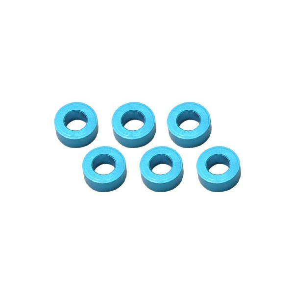 Color Aluminum  Adjust Spacer 3.0x2.5mm Blue (10pcs)
