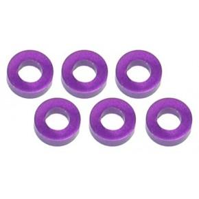 Color Aluminum  Adjust Spacer 3.0x2.0mm Purple (10pcs)