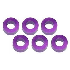 Color Aluminum  Adjust Spacer 3.0x2.5mm Purple (10pcs)