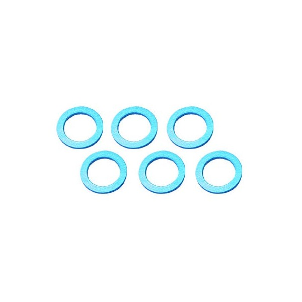 Color Aluminum  Adjust Spacer 4.0x0.5mm Blue (10pcs)