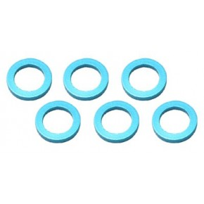 Color Aluminum  Adjust Spacer 4.0x1.0mm Blue (10pcs)