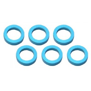 Color Aluminum  Adjust Spacer 4.0x1.5mm Blue (10pcs)