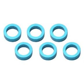 Color Aluminum  Adjust Spacer 4.0x2.0mm Blue (10pcs)