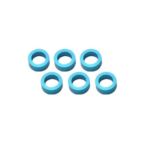Color Aluminum  Adjust Spacer 4.0x2.5mm Blue (10pcs)