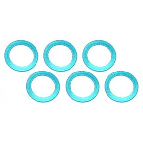 Color Aluminum  Adjust Spacer 5.0x0.5mm Blue (10pcs)