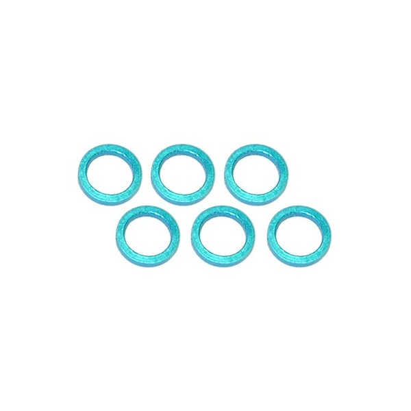 Color Aluminum  Adjust Spacer 5.0x1.0mm Blue (10pcs)