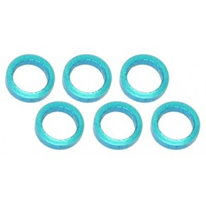 Color Aluminum  Adjust Spacer 5.0x1.5mm Blue (10pcs)