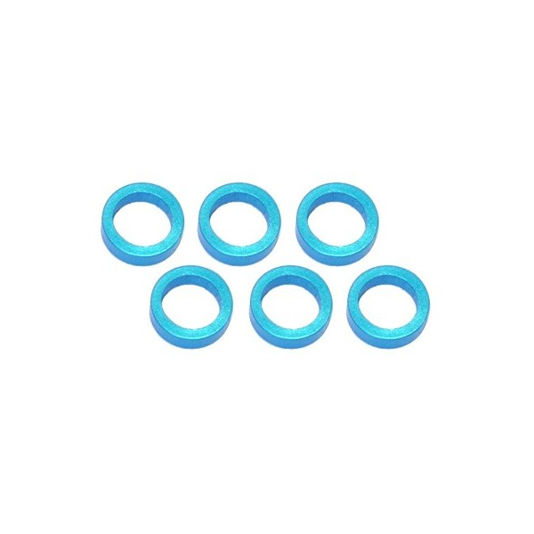 Color Aluminum  Adjust Spacer 5.0x2.0mm Blue (10pcs)