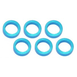 Color Aluminum  Adjust Spacer 5.0x2.0mm Blue (10pcs)