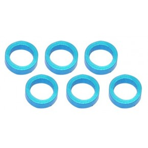 Color Aluminum  Adjust Spacer 5.0x2.5mm Blue (10pcs)