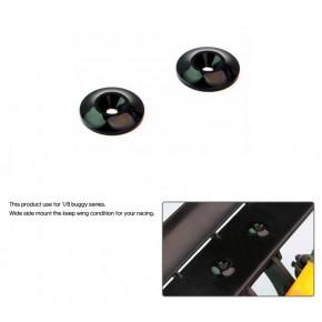 Aluminium Wing Washer Black (2pcs)