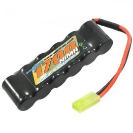 VOLTZ STRAIGHT PACK 7.2V 1700MAH NIMH W/MINI TAMIYA