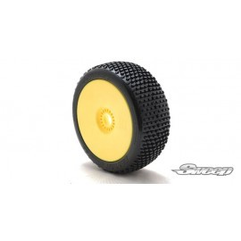 BATTLE STAR V2.0 Blue(Extra Soft) Preglued tires/Yellow 4pcs
