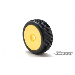 BATTLE STAR V2.0 Yellow(Medium) Preglued tires/White 4pcs