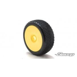 BATTLE STAR V2.0 Yellow(Medium) Preglued tires/White 4pcs