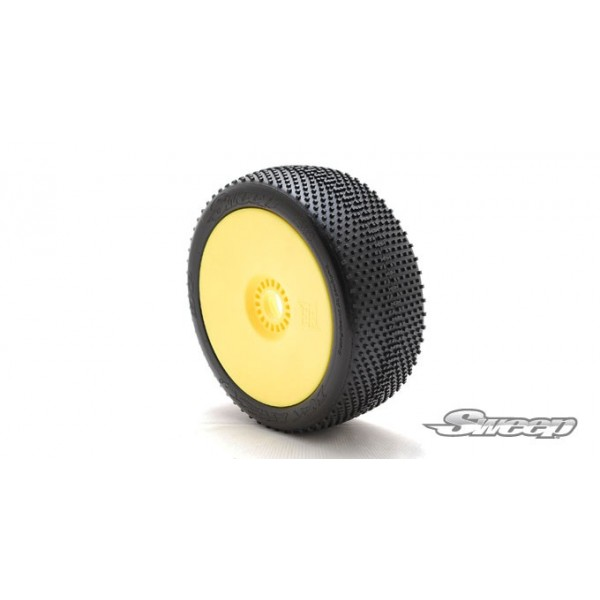 DIRT EFFECT V2.0 Red(Soft) Preglued tires/Yellow 4pcs